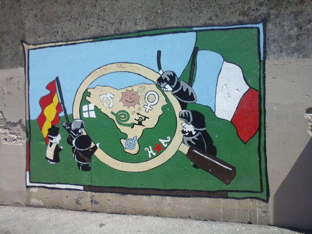 Fresque sur un mur du Petit Bayonne